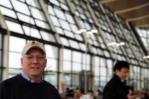Bob Welty at Shanghai Pudong International Airport