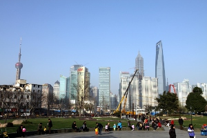 Pudong as viewed from Ancient City Park