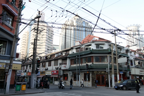 Renmin Road in Shanghai's Luwan district