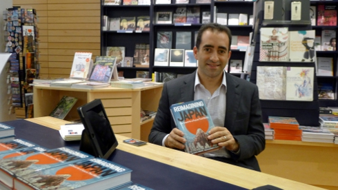 Brian Salsberg signs copies of Reimagining Japan